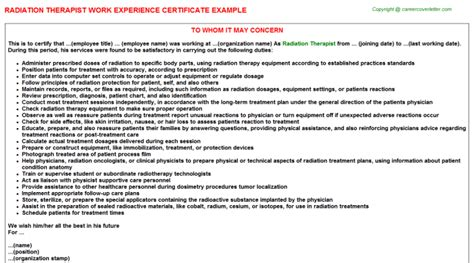 Experience Letter Physiotherapist experience certificate sle physiotherapist image