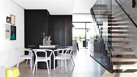 townhouse interior design best open plan living designs black white dining room
