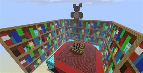 updated big enchantment table with bookshelves minecraft