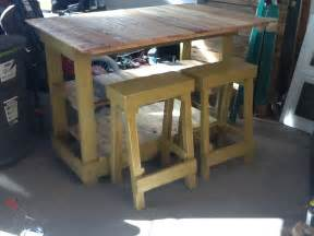 Diy Kitchen Island Table Bar Stool Made From Pallet Wood Furniture By Sameasnever