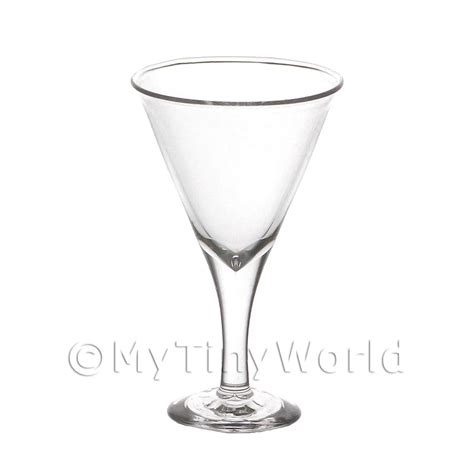Handmade Martini Glasses - dolls house miniature glassware dolls house miniature