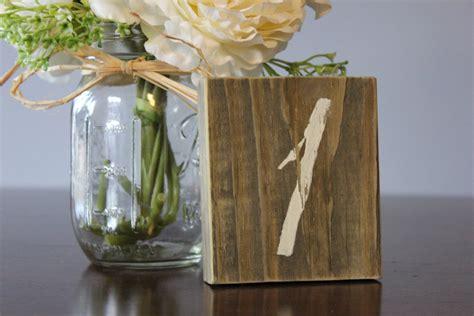 rustic wood wedding table number onewed