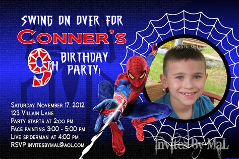 spiderman birthday invitation by invitesbymal on etsy