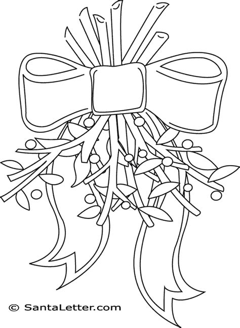 Coloring Picture Of A Mistletoe New Calendar Template Site Mistletoe Coloring Page