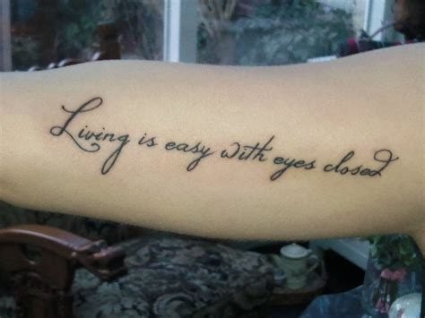 tattoo lyrics on arm best 25 beatles lyrics tattoo ideas on pinterest