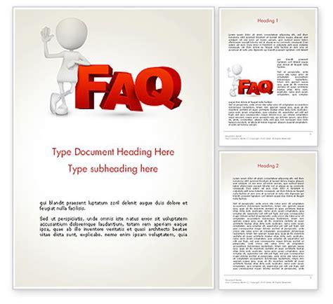 Faq Word Templates Design Download Now Poweredtemplate Com Microsoft Word Faq Template