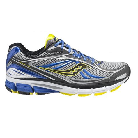 omni running shoes omni 12 running shoes grey blue yellow mens at