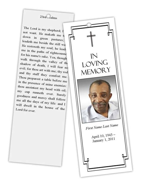 funeral program templates memorial bookmark template