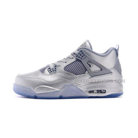 retro iv mens basketball shoes 2015 nike air 4 iv retro 30th sneakers all silver