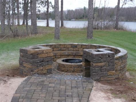 Building An Outdoor Firepit How To Make A Simple Pit In Your Backyard Home Improvement