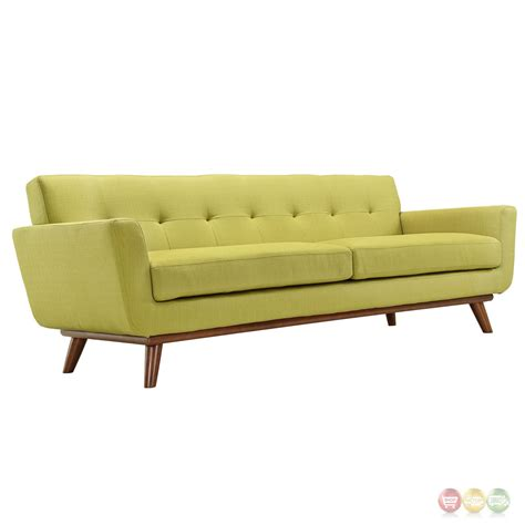 Modern Loveseat Sofa Engage Modern 2pc Upholstered Button Tufted Loveseat And Sofa Wheat