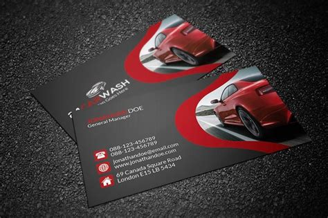 auto detailing business card template free car wash business card business card templates