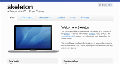skeleton responsive template best free responsive wp themes