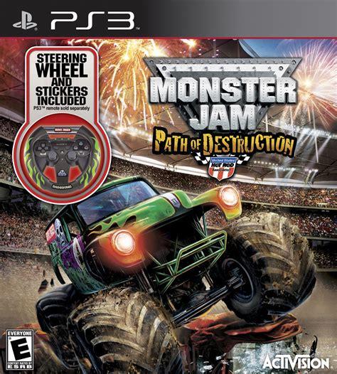 grave digger monster truck games monster jam 3 path of destruction with grave digger