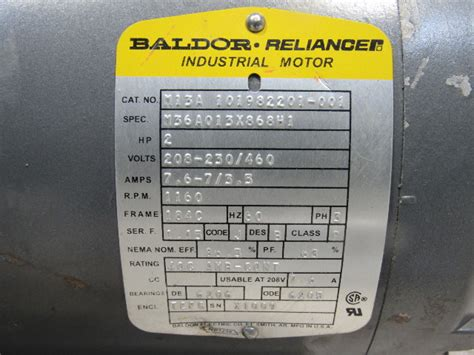 baldor ma hp rpm    shaft ac motor bullseye industrial sales