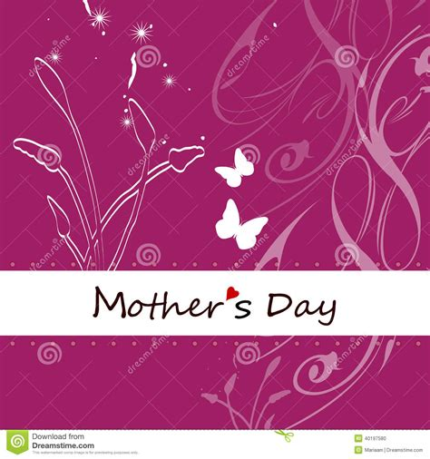 mother day greeting card design mother 180 s day card stock illustration image 40197580