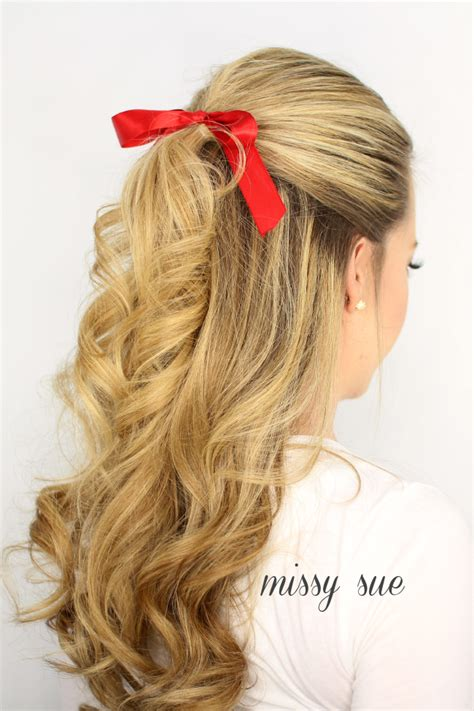 Half Up Half Down Hairstyles With Ribbon | 3 half updo hairstyles