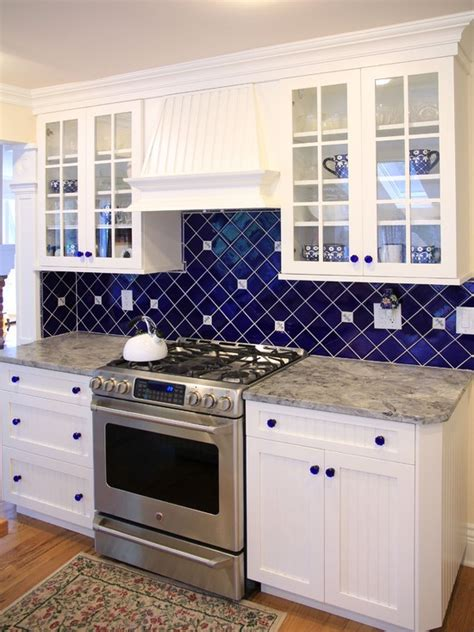 Blue Glass Tile Kitchen Backsplash 36 colorful and original kitchen backsplash ideas digsdigs