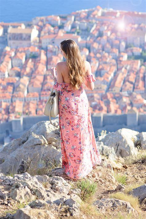 Arum Maxy the shoulder maxi dress in dubrovnik arum lilea