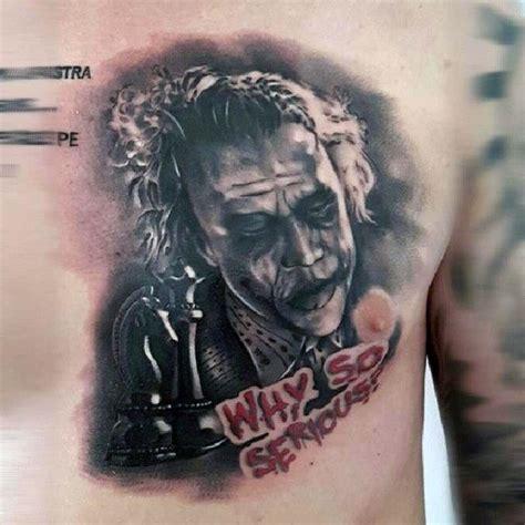 tattoo joker chest 90 joker tattoos for men iconic villain design ideas