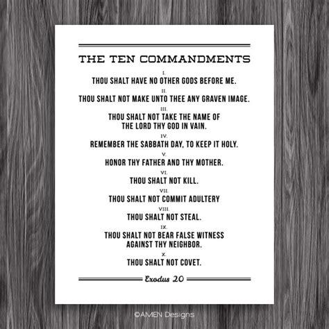 printable version of catholic ten commandments the ten commandments printable design for 11x14