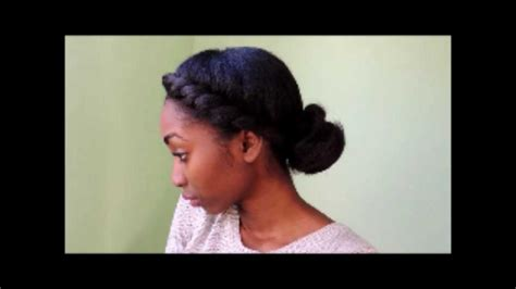 4 simple formal hairstyles on natural hair blown out