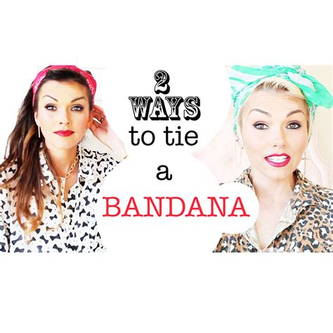 different ways to wear a bandana with short hair kandeej com how to tie a bandana in your hair 2 ways