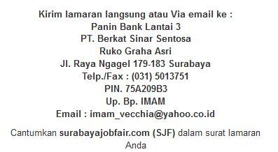 lowongan smasmk surabaya terbaru  panin bank portal lowongan kerja
