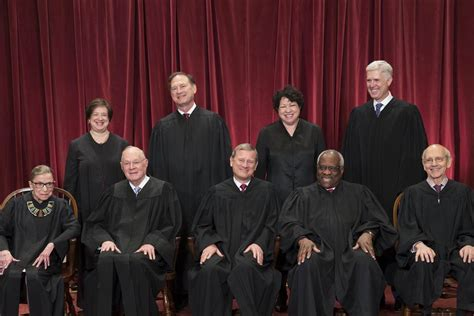 supreme court justices gorsuch joins supreme court colleagues for formal