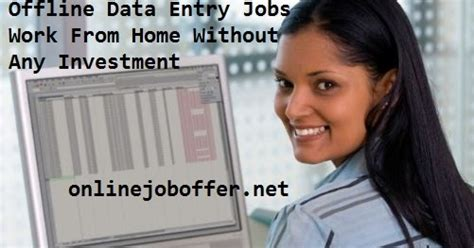 Work Part Time From Home Online Without Investment - paying offline data entry jobs work from home without any investment part time