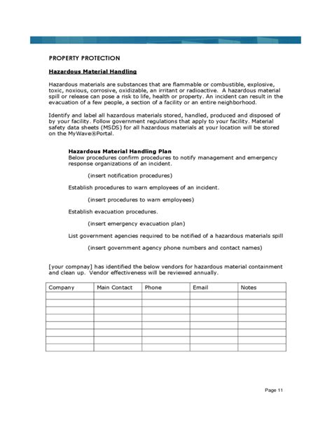 business template sle business continuity plan template for small business 28