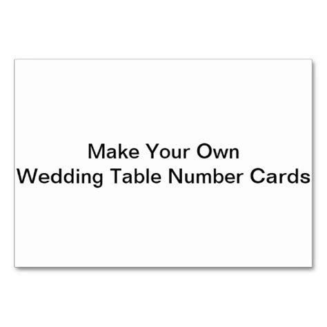 make your cards make your own wedding table number cards table cards zazzle