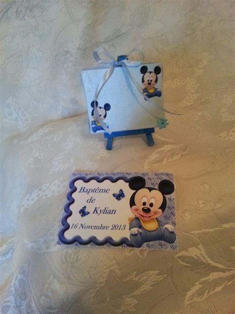 Decoration Bapteme Mickey by Bapt 234 Me Mickey Baby Quot La Copie N Est Pas Un Quot Juste