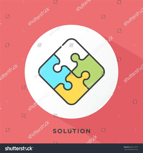 Outline Offset Color by Puzzle Icon With Grey Outline And Offset Flat Colors Modern Style Minimalistic Vector