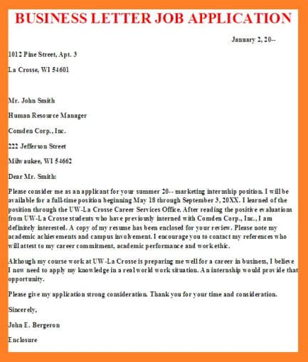 Business Letter Applying For Internship business letters business letter exles