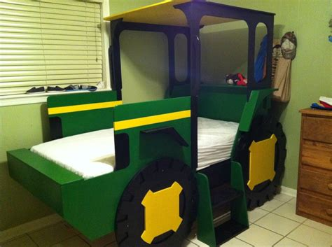 tractor bed john deere tractor bed my husband made kids pinterest