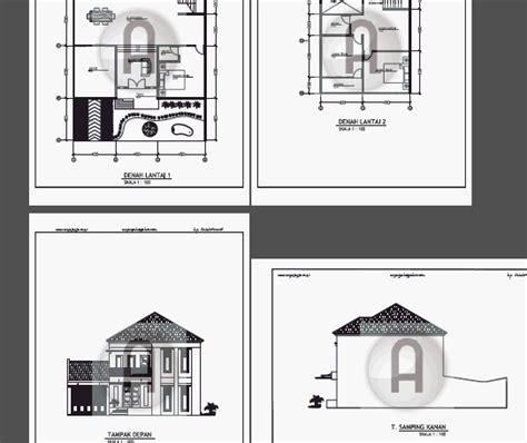 gambar kerja desain ruko dan rumah contoh gambar kerja desain ruko dan rumah