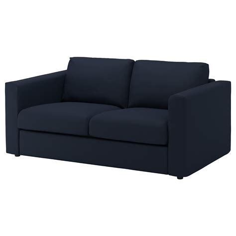 2 seater black sofa vimle 2 seat sofa gr 228 sbo black blue ikea
