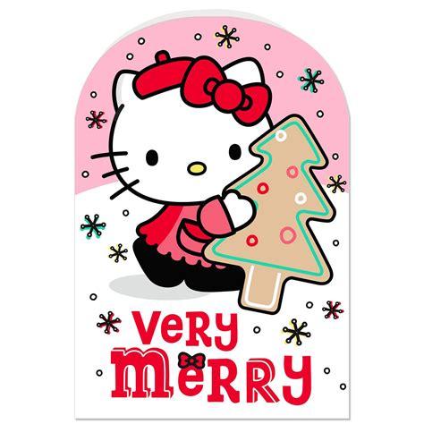 kitty  merry christmas card greeting cards hallmark