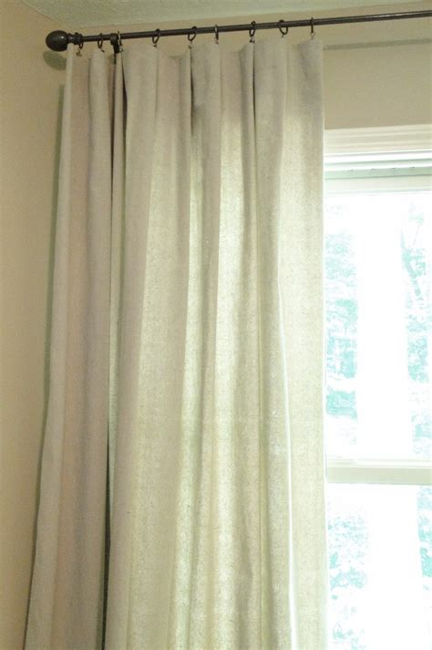 curtains made from drop cloths remodelaholic drop cloth curtains diy