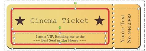 cinema ticket template word 40 free editable raffle ticket templates