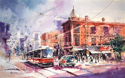 Toronto Artwork by Toronto Watercolor Painting By Abstractmusiq On Deviantart