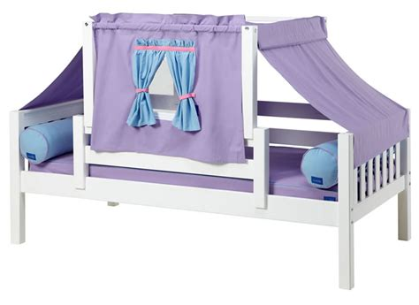 purple toddler bed yo 27 playhouse bed w toddler safety rail by maxtrix kids purple and blue 250