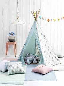Grey Blue Curtains Wieber Tipi Tent Kidsdepot