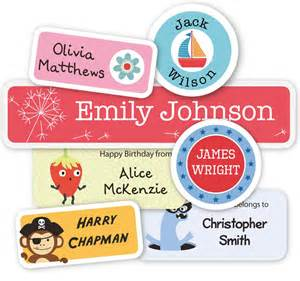 Personalised Name Wall Stickers For Kids name labels and clothing labels for kids tinyme