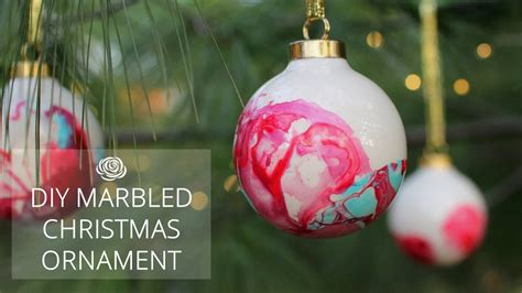 diy marbled christmas ornaments  collaboration