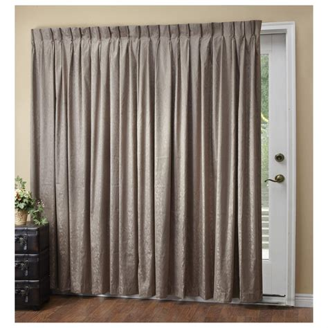 pinch pleat patio panel drapes a l ellis dover pinch pleat thermal insulated patio