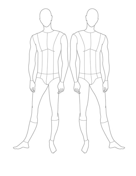 drawing templates for 1000 images about croquis on fashion