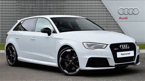 Audi A3 Rs3 by Audi A3 Rs3 Sportback Quattro Nav White 2016