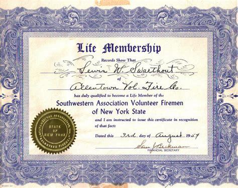 membership certificate template lifetime achievement